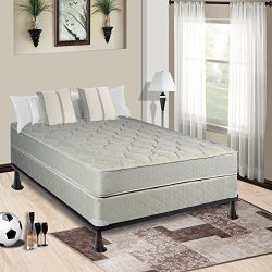 Continental Sleep Hollywood Collection Orthopedic Mattress and Box Spring with Bed Frame, Twin