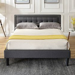 Classic Brands DeCoro Mornington Upholstered Platform Bed | Headboard and Metal Frame with Wood  ...
