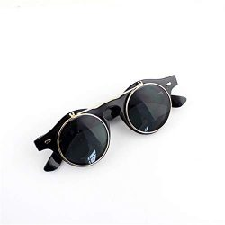 Spring Cool Round Shape Pc Lens Black Acetate Frames Sunglasses with Free Glasses Boxes