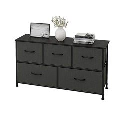WLIVE 5 Drawers Dresser Storage Organizer Unit for Bedroom, Hallway, Entryway, Closets