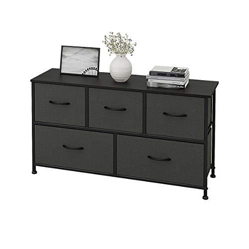 WLIVE 5 Drawers Dresser Storage Organizer Unit for Bedroom, Hallway, Entryway, Closets