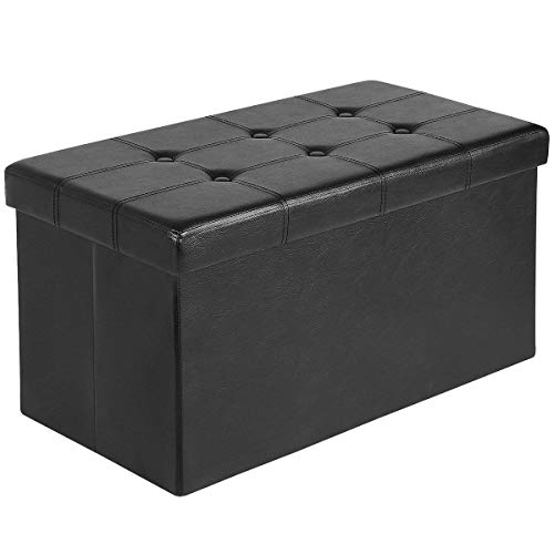 Ulikit 30 Quot Folding Storage Ottoman Bench Faux Leather Toy