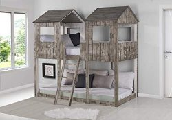 DONCO 3225-TTRDW Twin Tower Bunk Bed BUNKBED Twin/Twin Rustic Dirty White