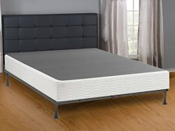 Mattress Solution, Queen Size Metal Box Spring with 6 Support Legs , Simple Assembly Required