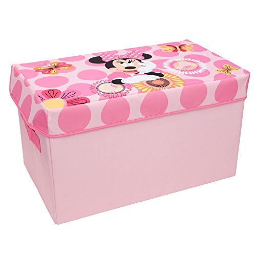 Storage Organizer Toy Box Disney Frozen Playroom Bedroom: Minnie Mouse Collapsible Kids Toy Storage Chest By Disney