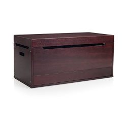 Guidecraft Brooklyn Toy Box Espresso – Dark Cherry Kids' Toy Chest, Trunk, Storage F ...