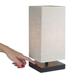 Revel/Kira Home Lucerna 13″ Touch Bedside LED Table Lamp, Energy Efficient, Eco-Friendly,  ...