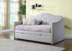 Coaster Home Furnishings 300629 Daybed, Twin, Pearlescent Grey