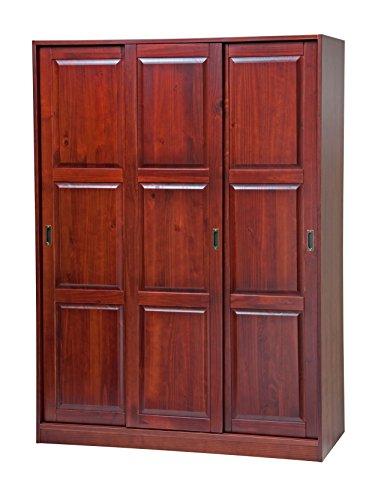 Palace Imports 5672 100 Solid Wood 3 Sliding Door