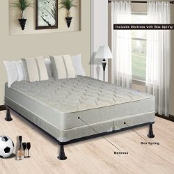 Spring Sleep, 9-Inch Gentle firm Tight top Innerspring Mattress And 4-Inch Split Box Spring/Foun ...
