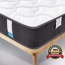 Inofia Hybrid Mattress,Box Spring Mattress,CertiPUR-US Certified Memory Foam Mattress,Euro Top,9 ...