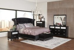 Coaster Home Furnishings 300643Q Platform Bed, Black