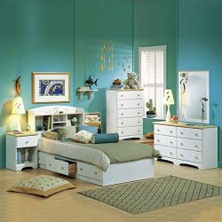South Shore Newbury Kids Twin Captain's 3 Piece Bedroom Set in White Finish