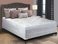 Spring Solution, 11-Inch Medium plush Eurotop Pillowtop Foam Encased innerspring Mattress And 4- ...