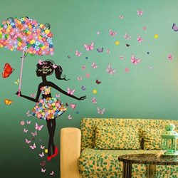 BCDshop Butterfly Flower Fairy Wall Stickers Bedroom Living Room Home Decal Art Mural Decor Remo ...