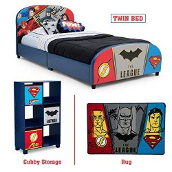 Delta Children – Justice League Twin Furniture Set, 3-Piece by DC Comics (Superman, Batman, Flas ...