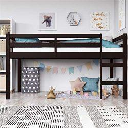 Dorel Living DA8377-E Milton Junior Twin Loft Bed Espresso