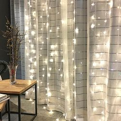 Twinkle Star 300 LED Window Curtain String Light for Wedding Party Home Garden Bedroom Outdoor I ...