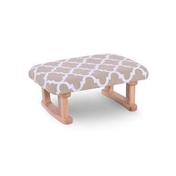 Footstool and ottomans small Solid Wood Footstool, Modern Minimalist Creative Walnut Pouffe Shoe ...