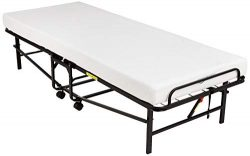 "AmazonBasics Rollaway Guest Bed with 4-inch Memory Foam Mattress – Cot size, 75"" x 3 ..."