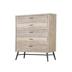 Artum Hill BE6-802 Laurel Dresser 5-Drawer Modern Gray