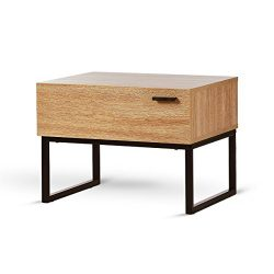 WLIVE 1 Drawer Nightstand, Wood Accent Table for Bedroom, Living Room