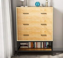 3-Drawer Double Dresser, LITTLE TREE Drawer Chest with Open Shelf, Works as Storage Dresser for  ...