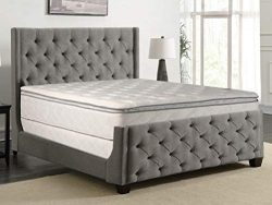 Greaton, 10-inch Fully Assembled Medium Plush Pillow Top Innerspring Type Mattress and 8″  ...
