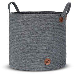 Blanket Basket Cotton Rope Storage Premium Basket | Style by Sweden | Woven Waterproof Laundry B ...