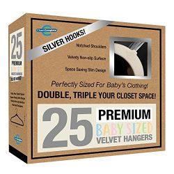 Closet Complete Baby Velvet Hangers, Premium Quality, True-Heavyweight, Virtually-UNBREAKABLE, U ...