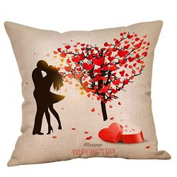 Cyhulu Exquisite Beautiful Color 18x18inch Quote Throw Sweet Love Square Pillow Case Cushion Cov ...