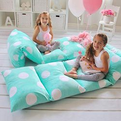 Butterfly Craze Girl's Floor Lounger Seats Cover and Pillow Cover Made of Super Soft, Luxu ...