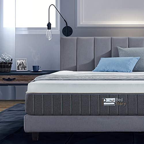 BedStory 12 Inch Gel Memory Foam Mattress Queen, Bamboo Charcoal Infused Breathable Bed Mattress ...