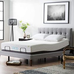 LUCID L300 Adjustable Bed Base – 5 Minute Assembly – Dual USB Charging Stations &#82 ...