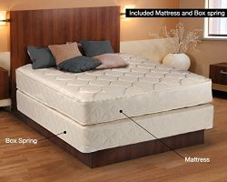 Continental Sleep, 9-Inch Gentle Firm Tight top Innerspring Mattress And Metal Box Spring/Founda ...