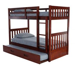 Discovery World Furniture 2810-2890 with Trundle Bunk Bed Twin Over Twin Merlot