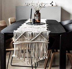 LEEVAN Handmade Macrame Table Runner Gorgeous Handwoven Wedding Table Decoration Wedding Table R ...