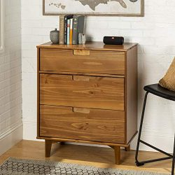 WE Furniture AZR3DSLDRCA Dresser, Caramel
