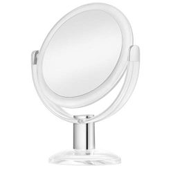 KEDSUM 1X & 10X Double Sided Magnified Makeup Mirror, Magnifying Vanity Mirror with 360 Degr ...
