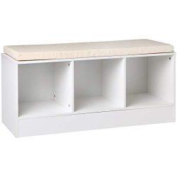 AmazonBasics 3-Cube Storage Bench – White