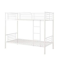 Bunk Bed Twin Over Twin,JULYFOX Modern Metal Steel Bed Frame 550 lb Heavy Duty With Stairs Side  ...