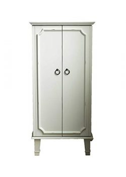 Hives and Honey 6006-945 Charlize Fully Locking Jewelry Armoire, White