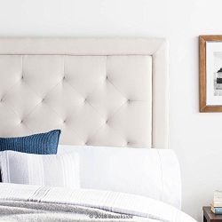 Brookside Upholstered Headboard with Diamond Tufting – Full/Full XL – Cream