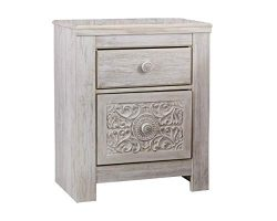Signature Design by Ashley B181-92 Paxberry Nightstand, White Wash