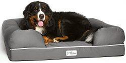 PetFusion Extra Large Dog Bed w/Solid 4″ Memory Foam, Waterproof Liner, YKK Premium Zipper ...
