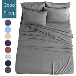 Shilucheng Queen Size 6-Piece Bed Sheets Set Microfiber 1800 Thread Count Percale | 16 Inch Deep ...