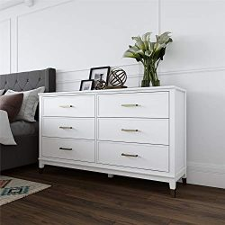 CosmoLiving Westerleigh 6 Drawer Dresser, White