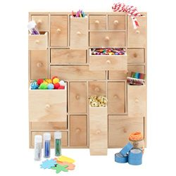 Wooden Storage Organizer – 24 Drawer | Craft Storage | Apothecary Cabinet | Desktop Organi ...