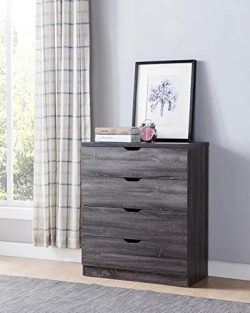 Smart home Eltra K Series Drawers Chest Dresser (Distressed Grey, 4 Drawers)