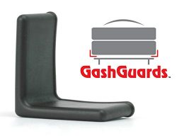 1 1/2″ GashGuards: Deluxe Plastic Bed Frame End Caps, Sheet Savers, Set of 2